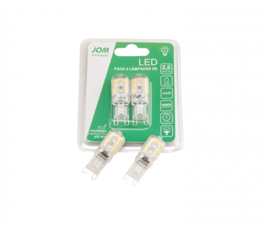 Blister 2 Lâmpadas Led JOM LEB-W1518 CLEAR